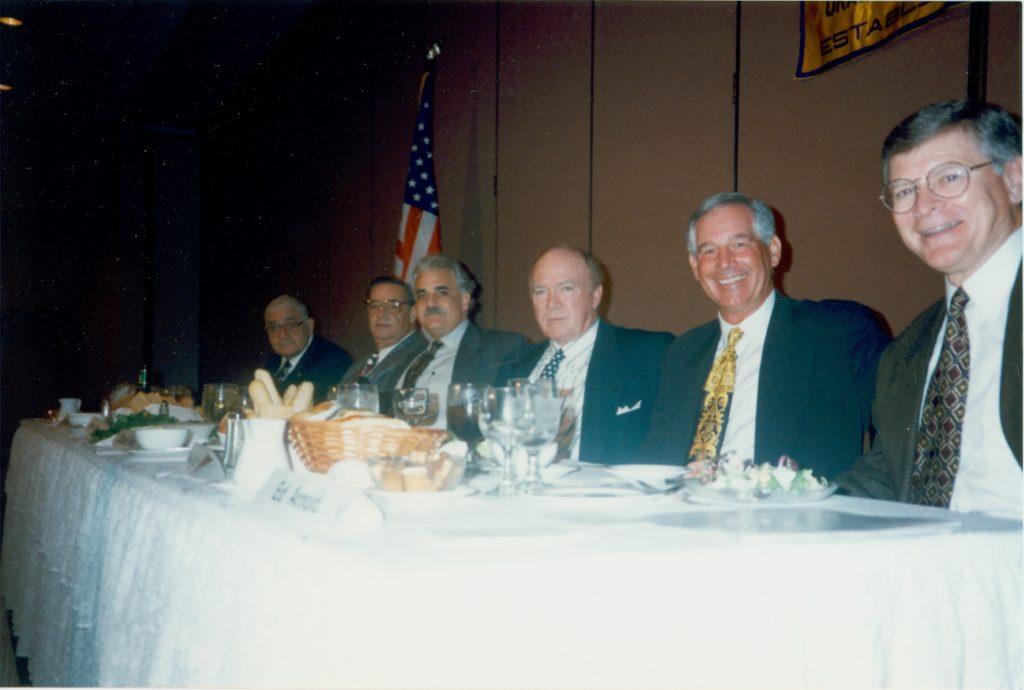 Jack Faulkner, Jack Kayajanian, Chuck Knox, Augie Garrido & Ed Arnold