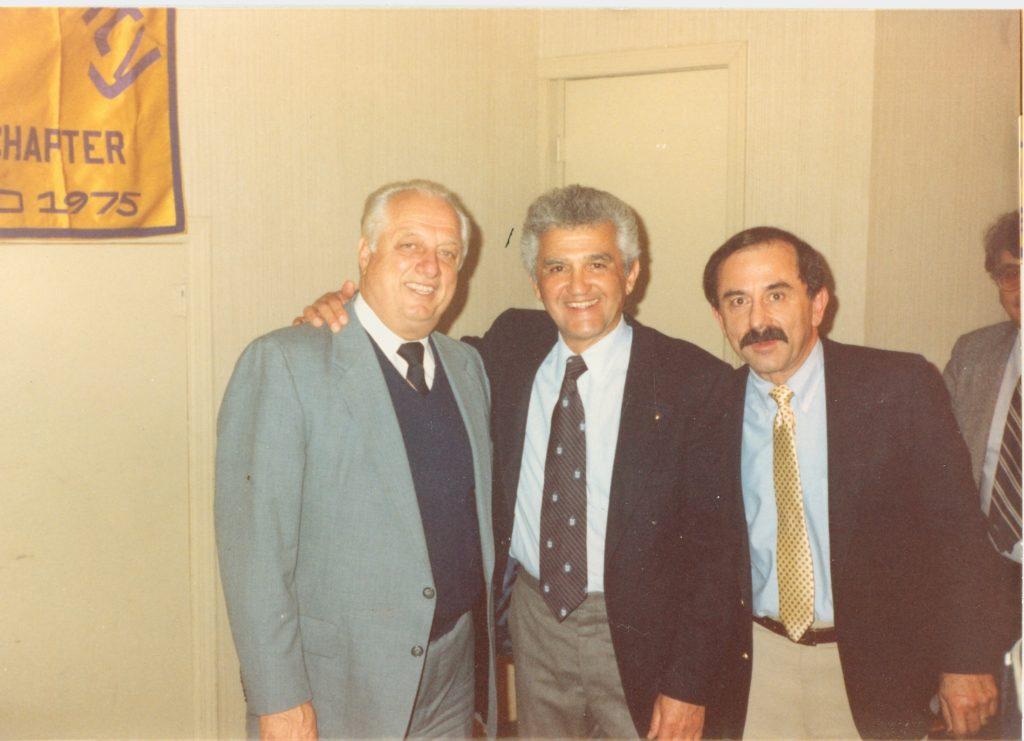 Tommy Lasorda, Mike Chakaglusyan & Pete Bedourian